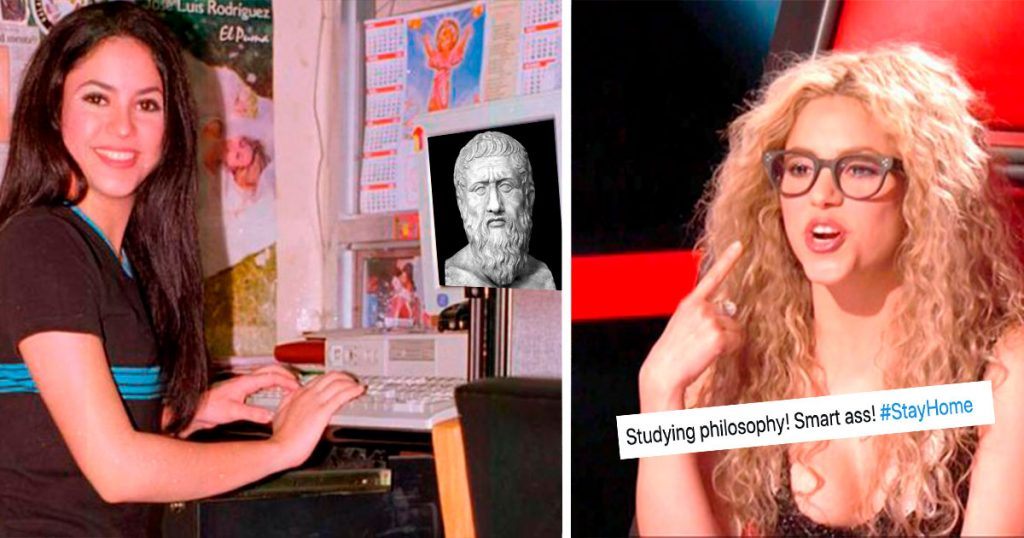 Shakira anda toda rabiosa… pero estudiando filosofía